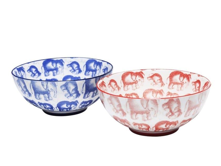 Porcelain stoneware serving bowl ELEFANT FAMILY by KARE-DESIGN