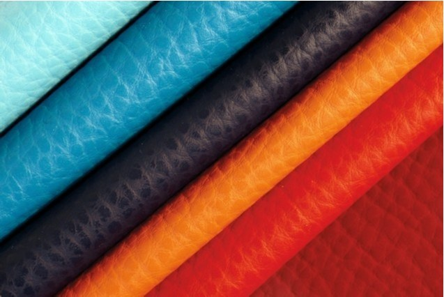 Solid-color fire retardant imitation leather fabric ELEFANT by FRIGERIO