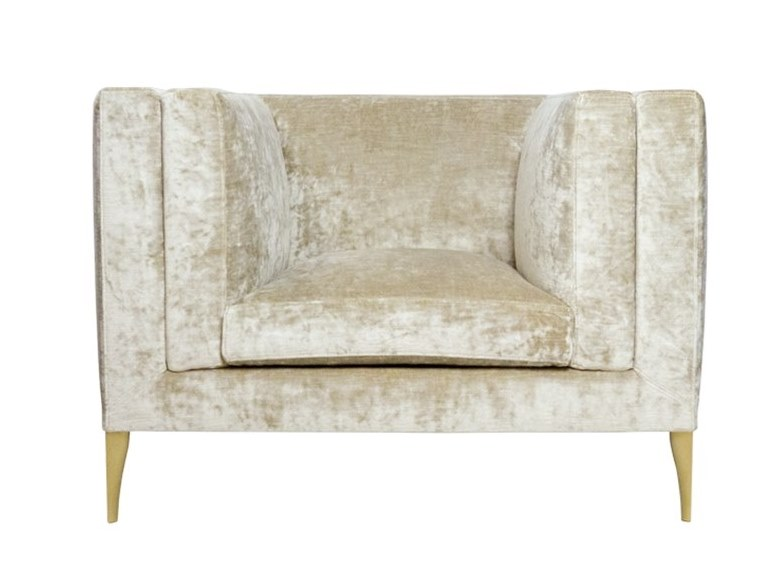 Velvet armchair with armrests ELEGANCE   Armchair by Paolo Castelli