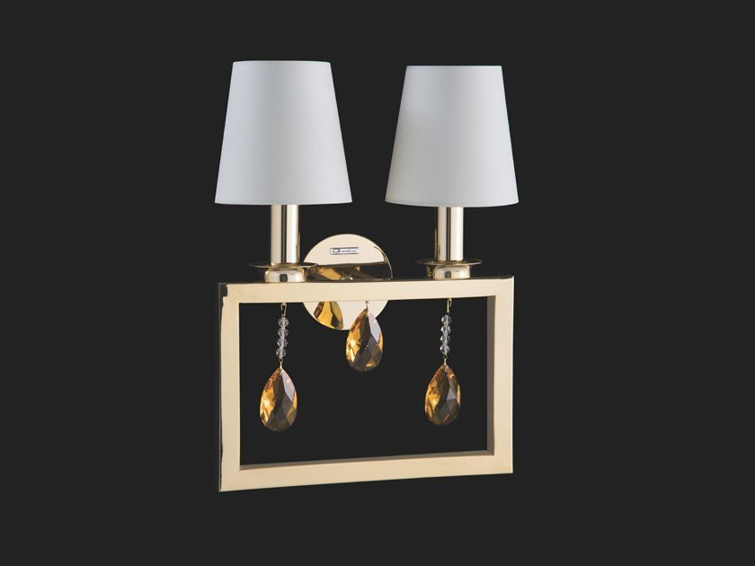 Indirect light wall lamp with crystals ELEGANCE | Wall lamp with crystals by Aiardini