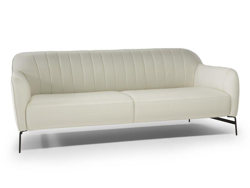 3 seater leather sofa ELEGANTE by Natuzzi