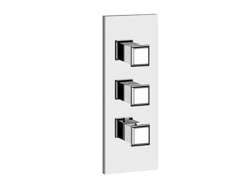 3 hole thermostatic shower mixer ELEGANZA SHOWER 46204 by Gessi