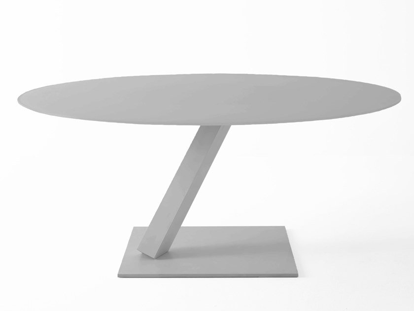 Tavolo Da Pranzo Rotondo : Tavolo da pranzo rotondo in acciaio element tavolo rotondo desalto