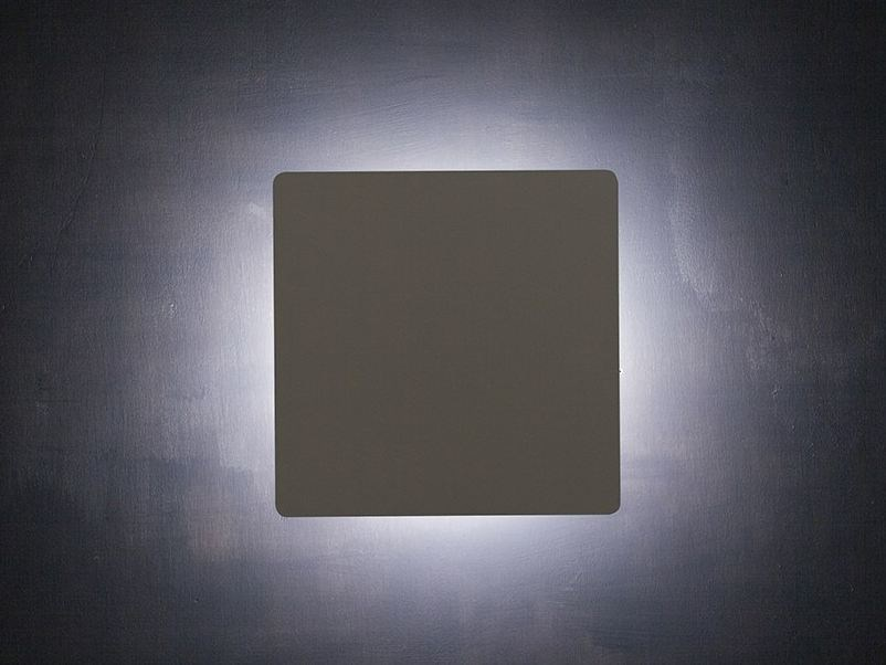 LED indirect light metal wall lamp ELEMENTARE Q by Lucente
