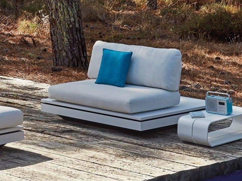 Upholstered modular fabric garden armchair ELEMENTS   Garden armchair by MANUTTI