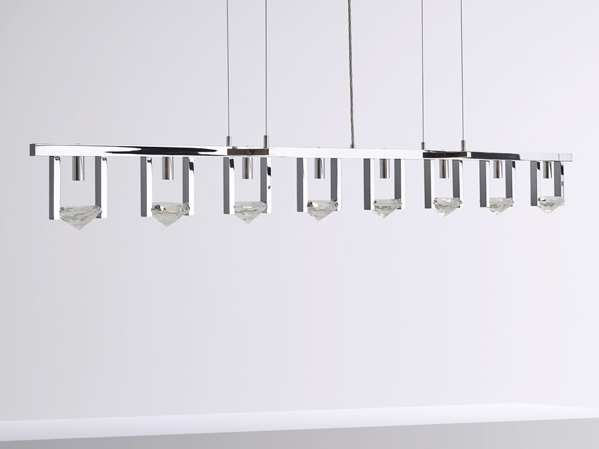 Direct light metal pendant lamp with crystals ELEMENTS OF LOVE H8L by ILFARI