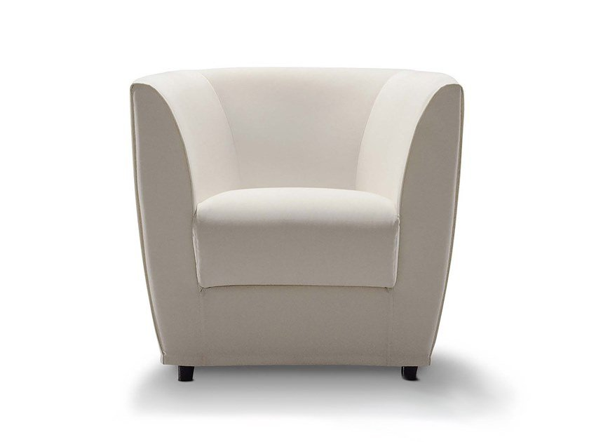 Fabric armchair with armrests ELENA by Flexstyle