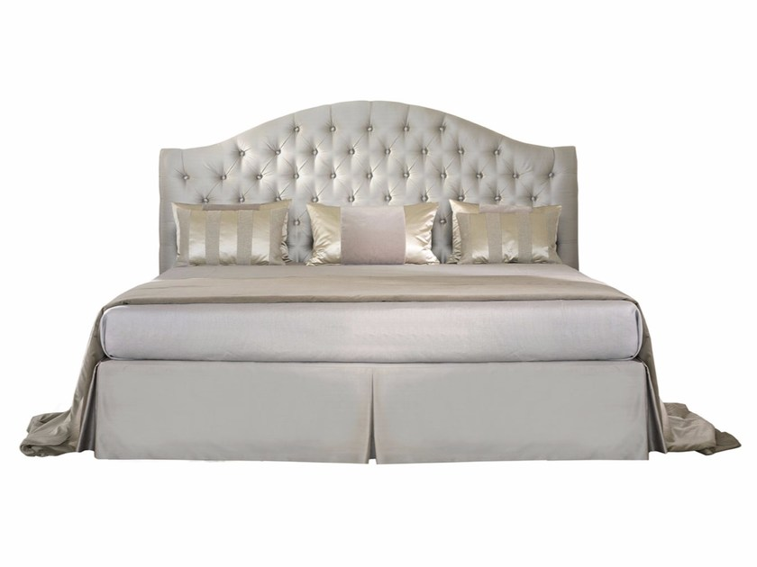 Fabric double bed with upholstered headboard ELENA by SOFTHOUSE