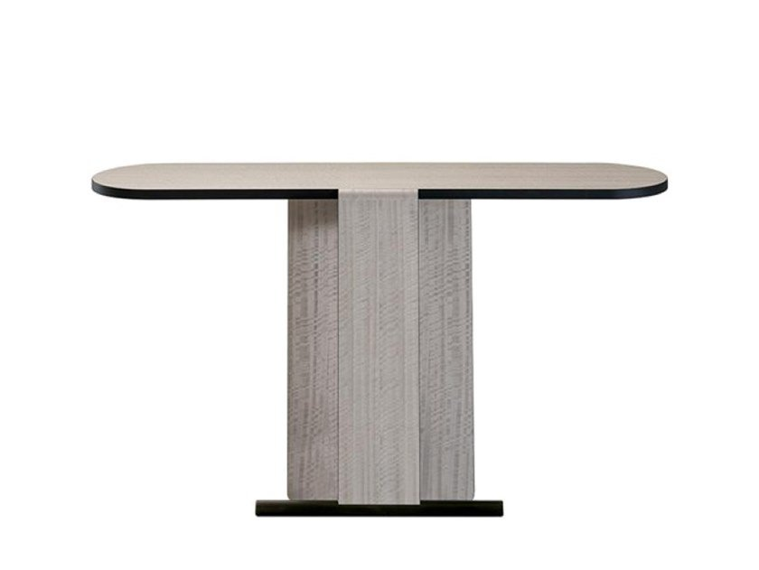 Oval wood veneer console table ELEPHANT by Casamilano