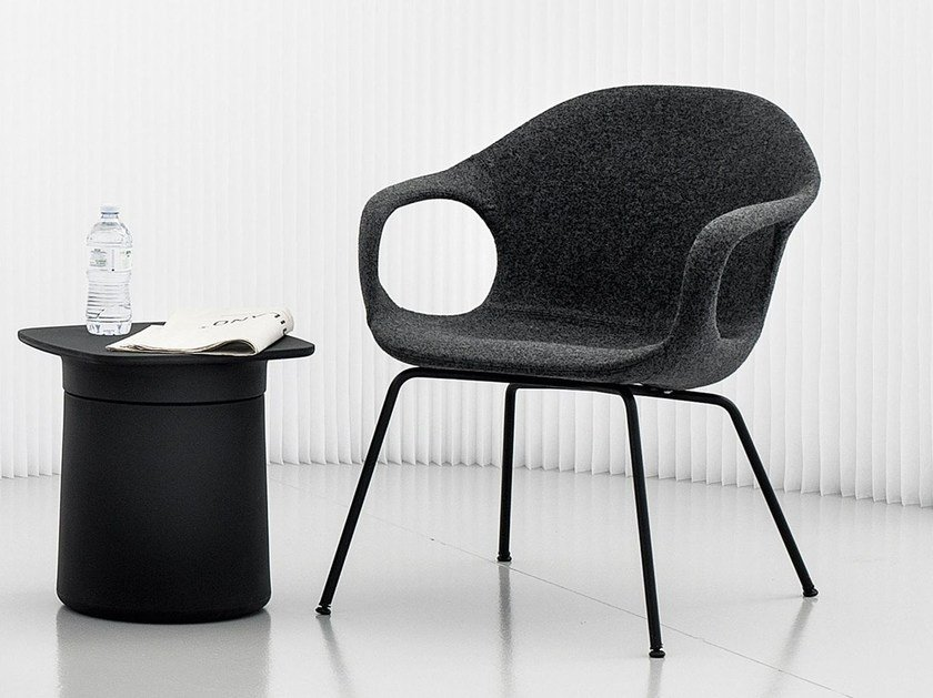 Fabric easy chair with armrests ELEPHANT LOUNGE by Kristalia