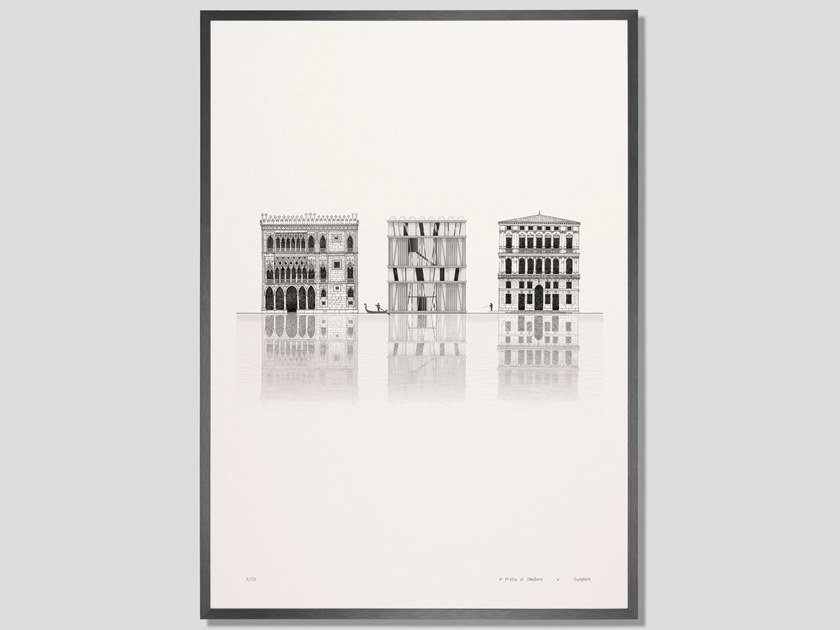 Architectural collage fine art print ELEVATION CA' D'OMBRE by DESPLANS