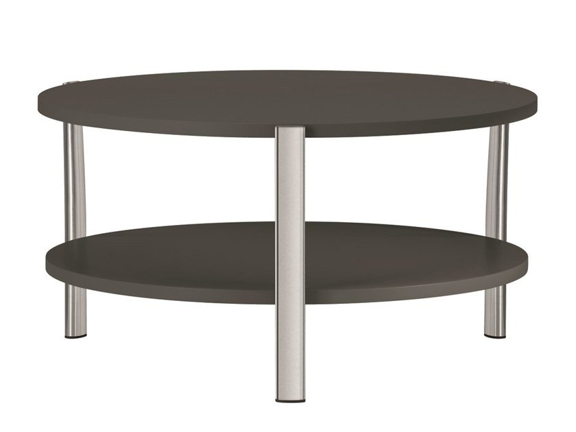Table basse ronde en MDF ELEVEN TABLE DOUBLE - 954 | Table basse ronde by Alias