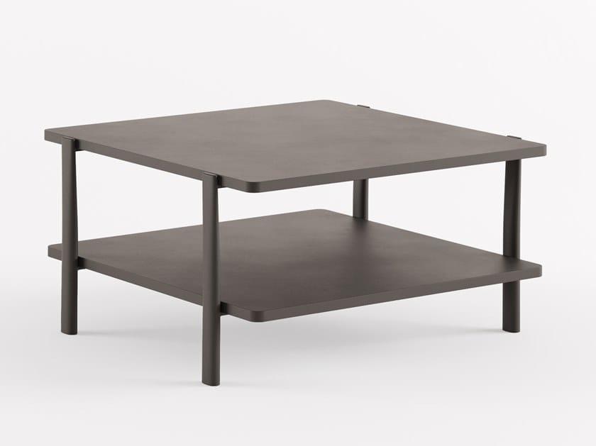 Quadratischer Couchtisch aus MDF ELEVEN TABLE DOUBLE - 954 | Quadratischer Couchtisch by Alias