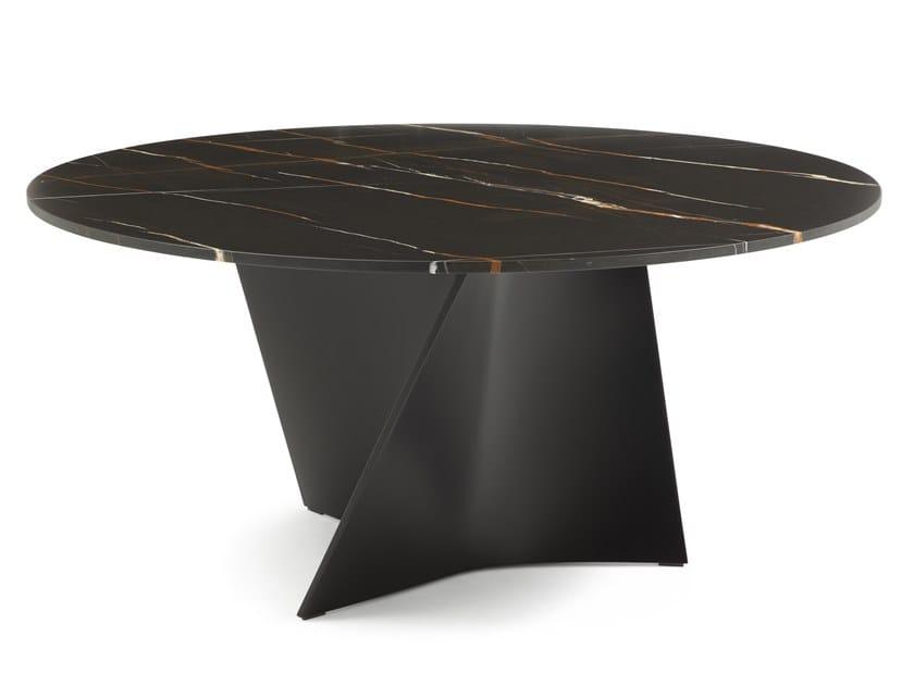 Tavolo rotondo in marmo ELICA 2575 | Tavolo in marmo by Zanotta