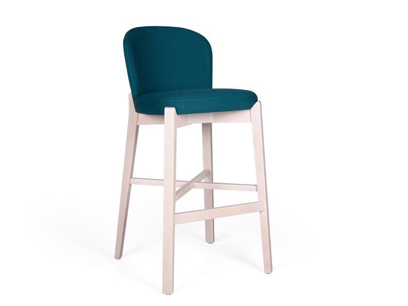 Upholstered barstool ELICIA BAR by Fenabel