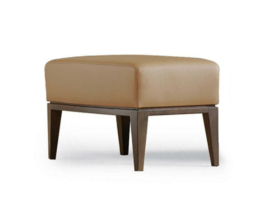 Leather footstool ELIDE | Footstool by Potocco