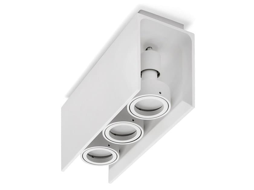 Lampada da soffitto orientabile in gesso ELIDE by Sforzin