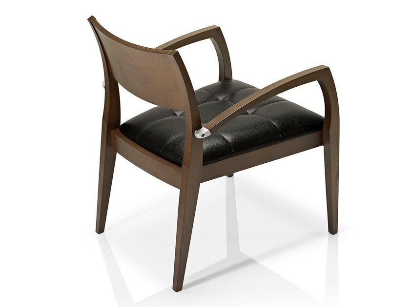 Leather easy chair with armrests ELIE | Leather easy chair by JMS