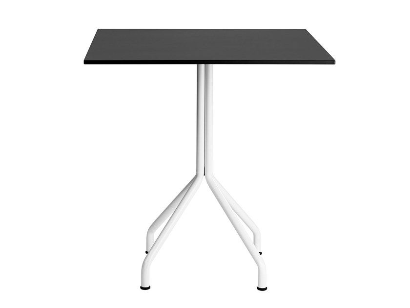 Round metal table ELIO | Square table by Mara