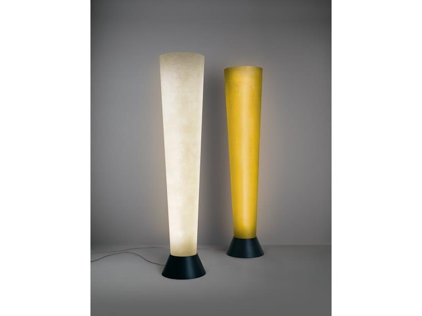 LED glass-fibre floor lamp with dimmer ELIOS by Quadrifoglio