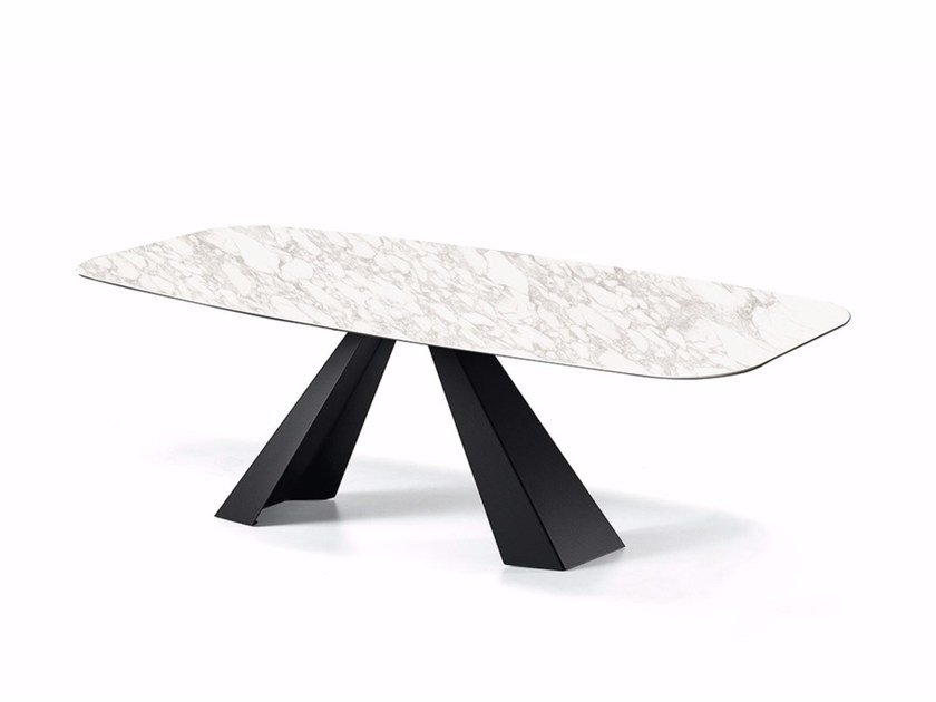 Rectangular ceramic table ELIOT KERAMIK by Cattelan Italia