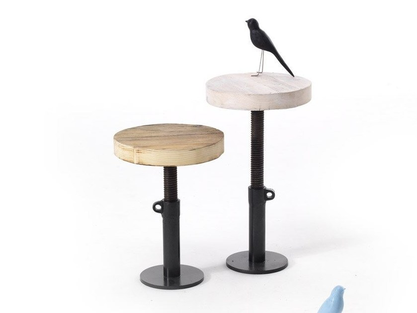 Height-adjustable spruce stool ELIOT by Vontree