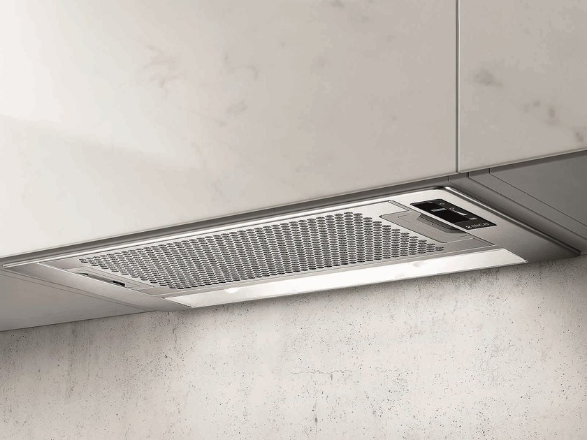Built-in stainless steel cooker hood with integrated lighting ELIPLANE by Elica