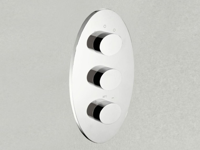 3 hole thermostatic shower mixer ELIS   Thermostatic shower mixer by Signorini
