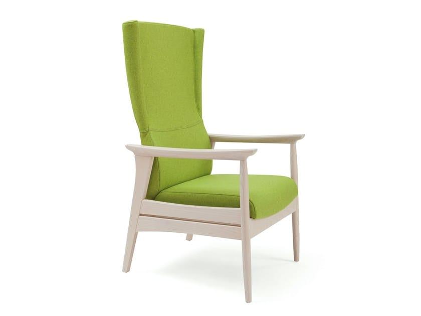 High-back fabric armchair ELISA | HEALTH & CARE | High-back armchair by PIAVAL