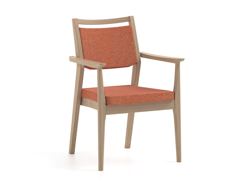 Stackable fabric chair with armrests ELISA | HEALTH & CARE | Fabric chair by PIAVAL