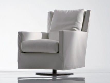 Swivel fabric armchair ELISA PLUS | Fabric armchair by Marac