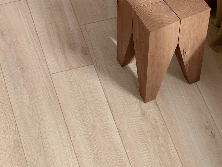 Pavimento/rivestimento in gres porcellanato effetto legno ELISIR AVORIO by Marca Corona