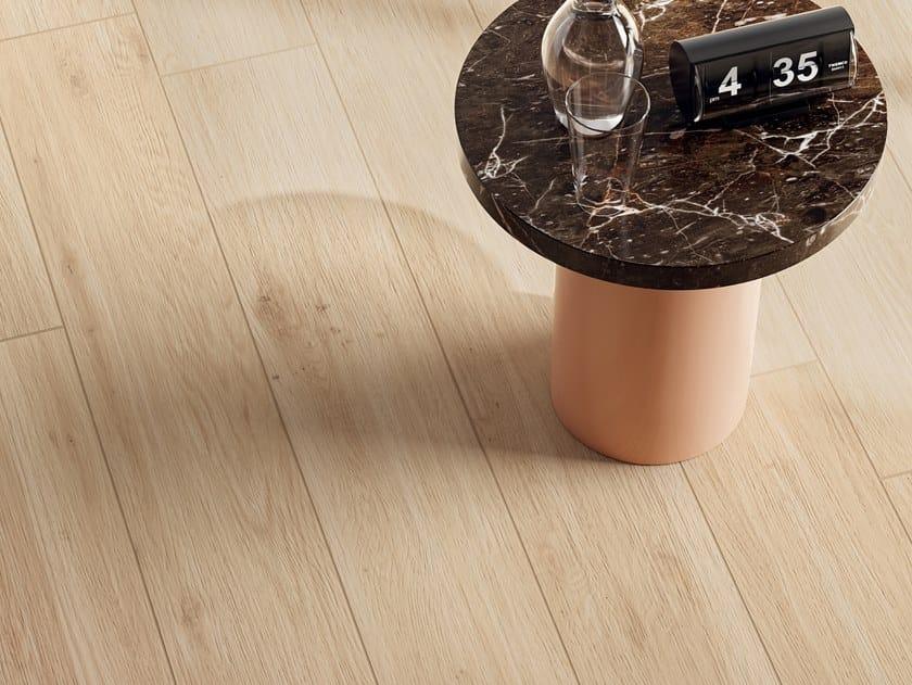 Pavimento/rivestimento in gres porcellanato effetto legno ELISIR BEIGE by Marca Corona