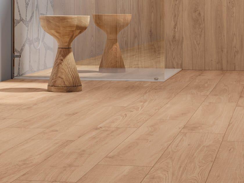 Pavimento/rivestimento in gres porcellanato effetto legno ELISIR DORATO by Marca Corona