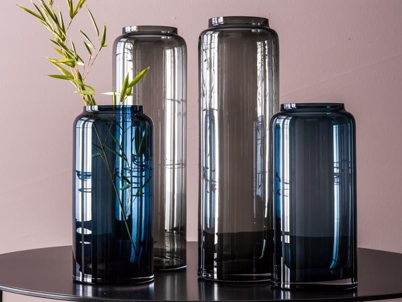Glass vase ELITE by Adriani e Rossi edizioni