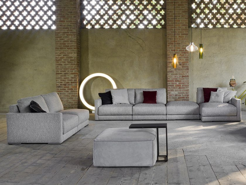 Sectional modular fabric sofa ELITE by Flexstyle