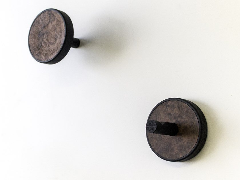 Couple of wall hangers made of precious wood ELITE RADICA by LIGNIS®