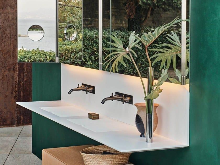 Piano lavabo in Corian® ELL | Piano lavabo in Corian® by Agape
