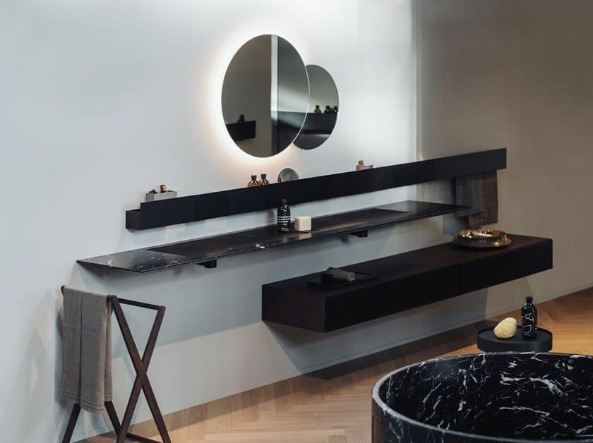 Piano lavabo in marmo ELL | Piano lavabo in marmo by Agape