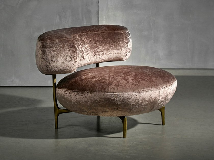Upholstered Dacron® armchair ELLA LIVING | Armchair by Piet Boon