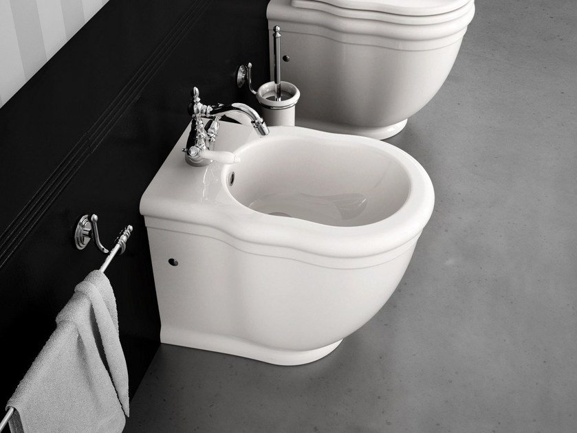 Ceramic bidet ELLADE | Bidet with overflow by Hidra Ceramica