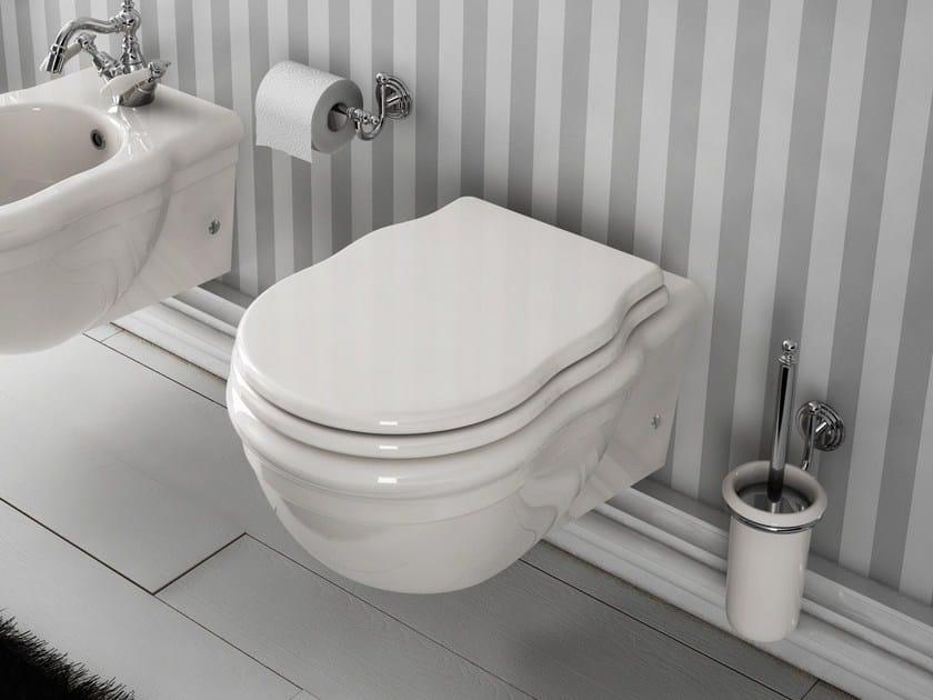 Wall-hung ceramic toilet ELLADE | Wall-hung toilet by Hidra Ceramica