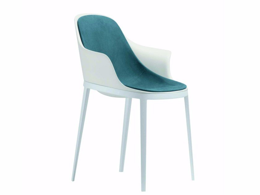 Upholstered chair with armrests ELLE ARM SOFT - 072 by Alias