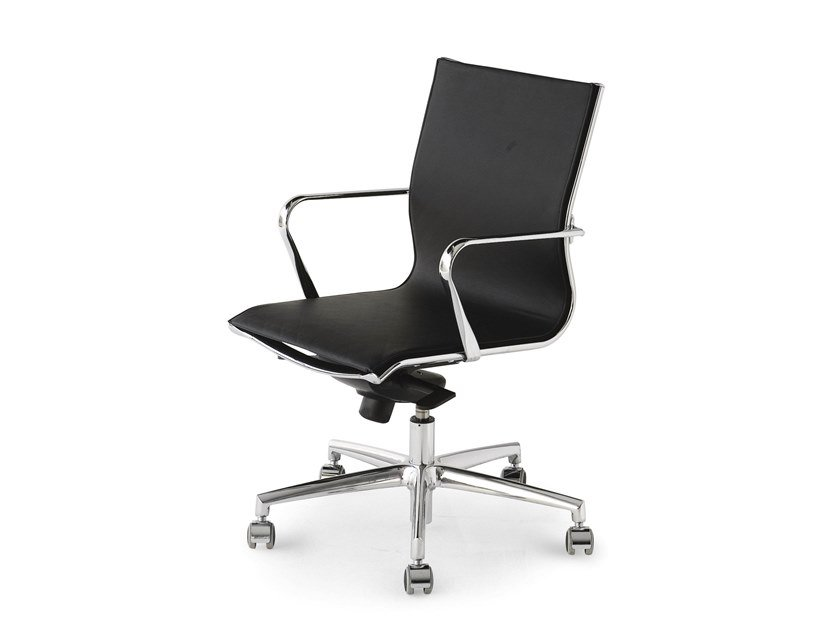 Leather task chair ELLE LEATHER | Task chair by FANTONI