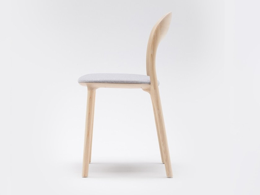 Solid wood chair with integrated cushion ELLE | Chair with integrated cushion by MS&WOOD