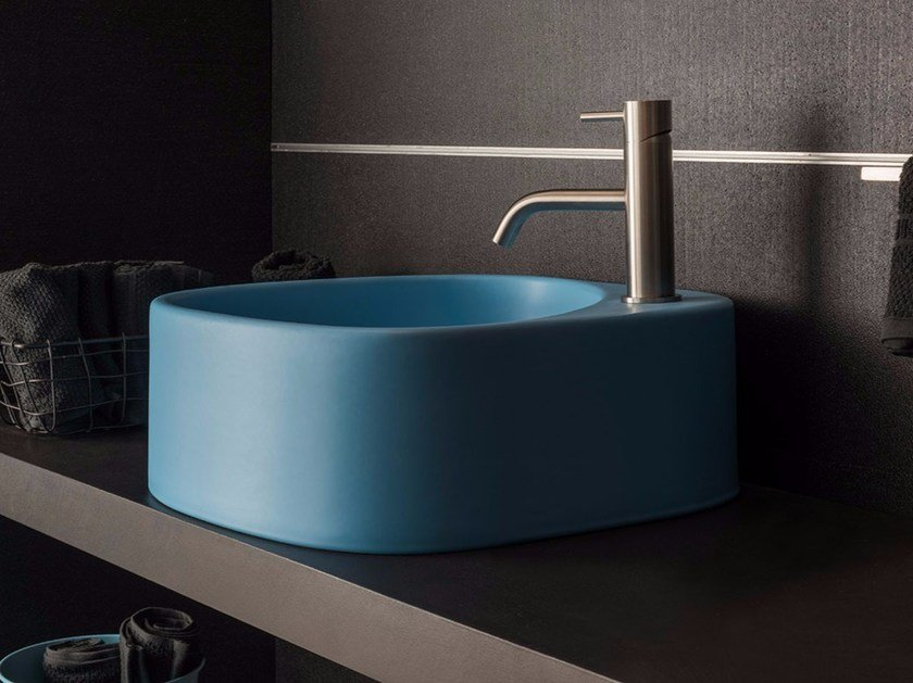 Countertop ceramic washbasin ELLE3 | Ceramic washbasin by Moab80