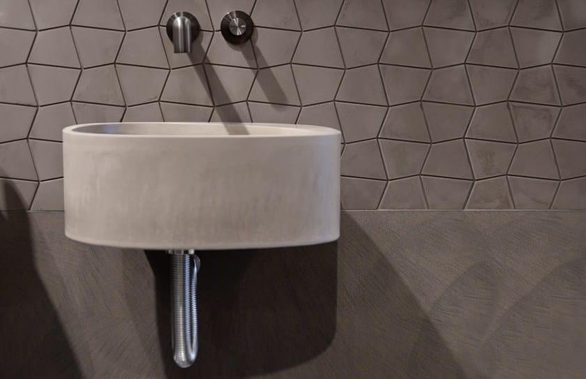 Lavabo sospeso in cemento ELLE3 | Lavabo in cemento - Moab80