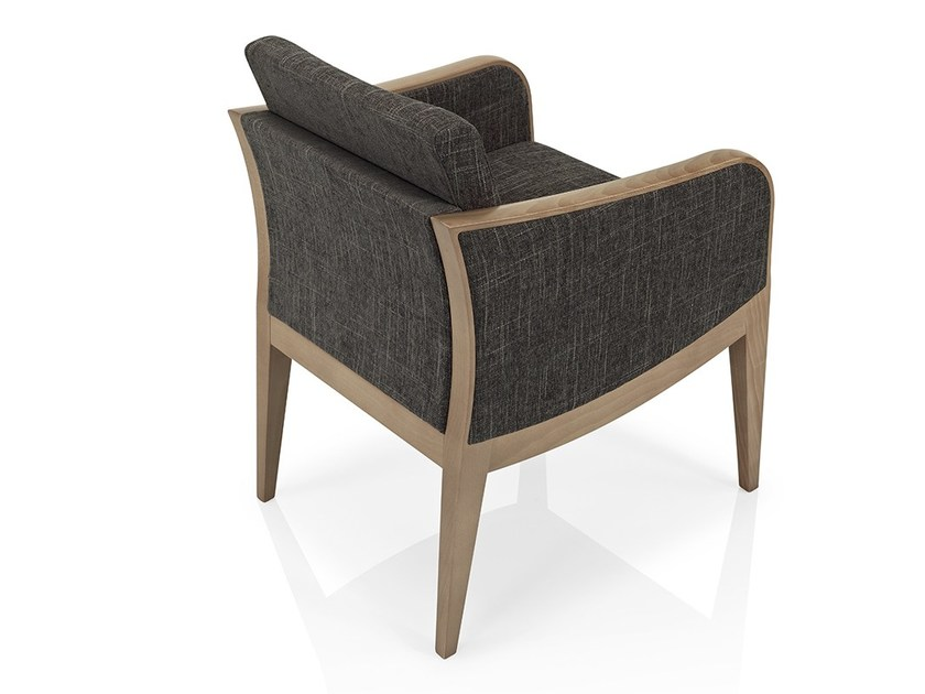 Fabric easy chair with armrests ELLEN | Easy chair by JMS