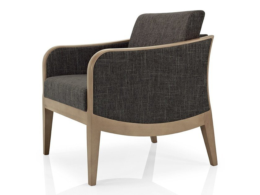 Fabric easy chair with armrests ELLEN | Fabric easy chair by JMS