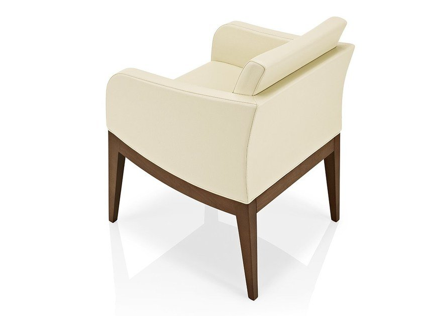 Leather easy chair with armrests ELLEN | Leather easy chair by JMS